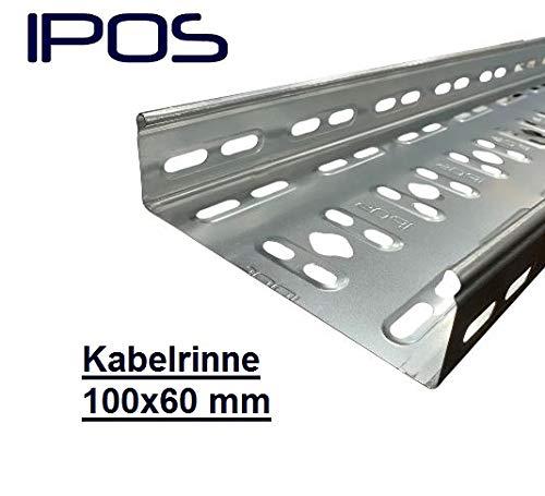 100x60 IPOS Kabelrinne 2 Meter Kabelkanal Kabeltrasse Verzinkt Metallkanal