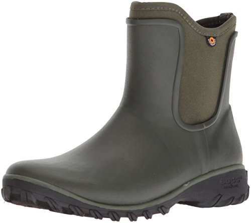 Bogs Women's Sauvie Slip On Boot Waterproof Garden Rain, Sage, 9 M US