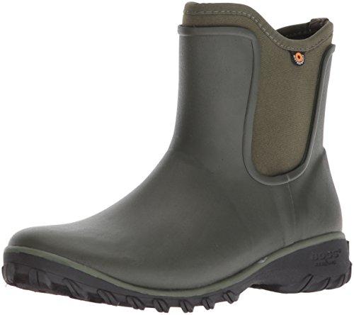 BOGS Women's Sauvie Chelsea Waterproof Garden Rain Shoe, Sage, 9 Medium US