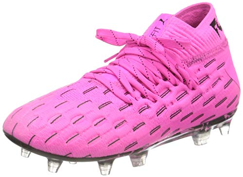 PUMA Future 6.1 Netfit Fg/ag Jr Fußballschuh, Leuchtendes Pink Schwarz, 37 EU