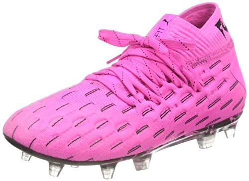PUMA Unisex-Kinder Future 6.1 Netfit Fg/ag Jr Fußballschuh, Leuchtendes Pink Schwarz, 37 EU