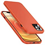 ESR iPhone 12 ケース/iPhone 12 Pro ケース 6.1inch 2020 新型 液体シリコン ゴム ソフト カバー 指紋防止 快適な握り心地 柔らかい裏地 衝撃吸収 - オレンジ
