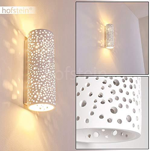 Wandleuchte Jabiru aus Keramik weiß, Wandlampe mit Lichteffekt für Flur, Wohnzimmer, Schlafzimmer - Diese Lampe ist mit handelsüblichen Farben bemalbar