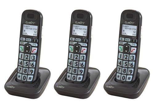 Clarity E814HS Moderate Hearing Loss Cordless Handsets (3 Pack)