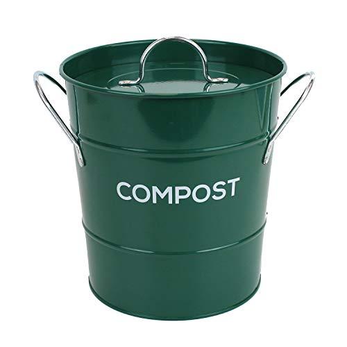 Cubo de compostaje de cocina de metal para el reciclaje de residuos de...
