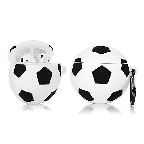 ZAHIUS Custodia Divertente in Silicone Airpods Compatibile per Apple Airpods 1 & 2 [Serie retrò] [Best Gift for Girl Boy] (Calcio)