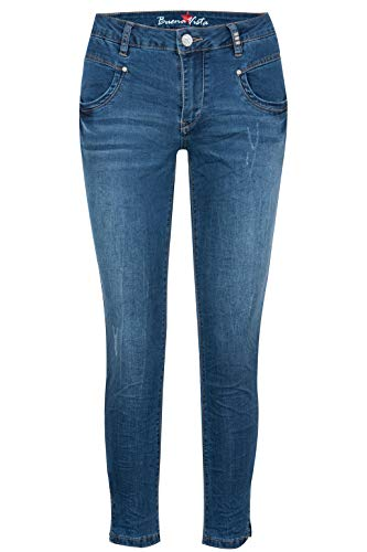 Buena Vista Damen Jeans Anna C 7/8 Stretch Denim mid Denim - M