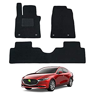 Carpet Floor Mat 2 Row Liner for Tesla