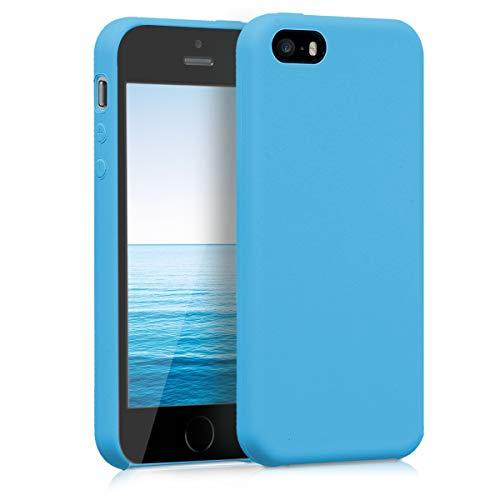 kwmobile Cover compatibile con Apple iPhone SE (1.Gen 2016) / 5 / 5S - Custodia in silicone TPU - Back Case protezione cellulare blu chiaro