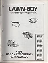 1990 LAWN-BOY RIDE-ON ATTACHMENT (SEE MODEL LIST) PART MANUAL P/N E008156 (103)