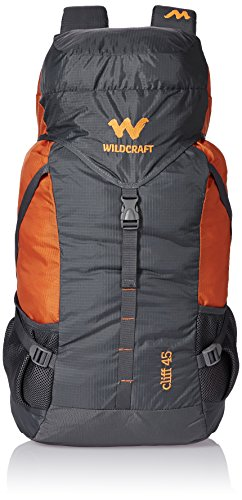 Wildcraft 45 Ltrs Grey and Orange Rucksack (8903338073864), Large