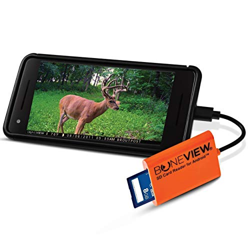 BoneView SD Card Reader for Android - Type C USB Trail Camera Viewer...