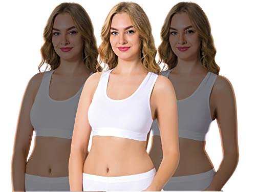 Arma Women's Built-Up Sports Bra (Pack of 3) (Large) White