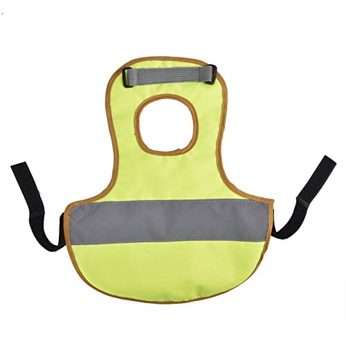 jycous Hen Apron Chicken Duck Vest - Pet Reflective Vest Chicken Clothes Poultry Hen Saddle Apron Feather Protection Holder for Chicken and Duck