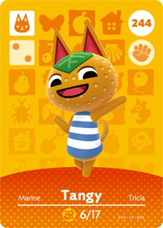 Tangy - Nintendo Animal Crossing Happy Home Designer Amiibo Card - 244