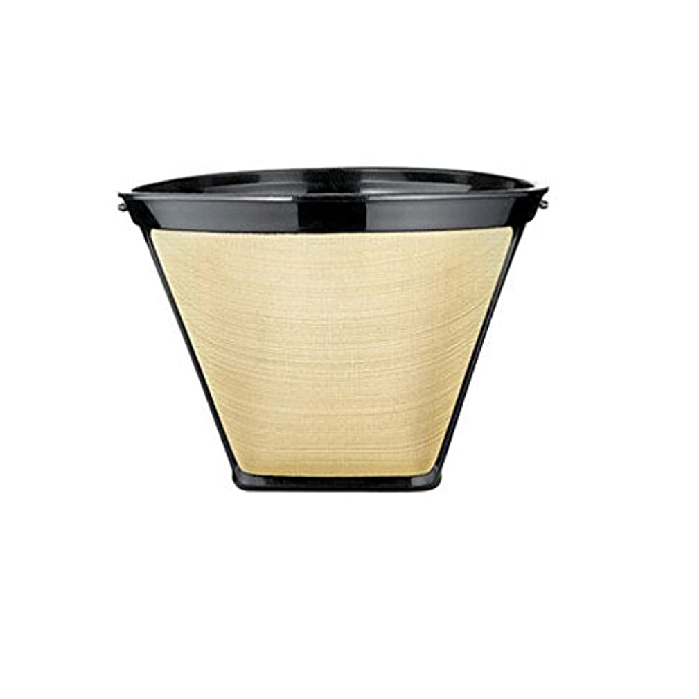 One-All Gold Tone Filter Permanent, Universal Fits Most Coffeemakers Stainless Steel Mesh 12 Cup Cap