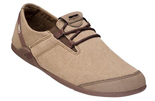Xero Shoes Casual Canvas Barefoot-Inspired Shoe - Men's Hana,Brown/Black,6.5 D(M) US