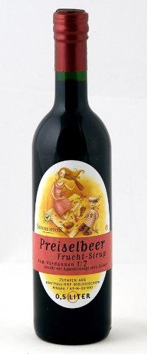Sonnentor Preiselbeer-Sirup, 1er Pack (1 x 500 ml) - Bio