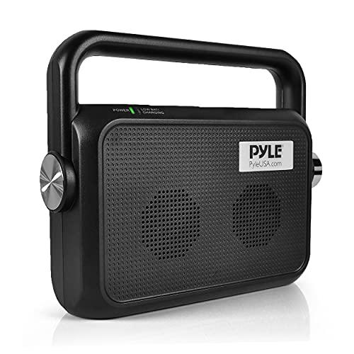Wireless Portable Speaker Soundbox - 2.4ghz Full Range Stereo Sound Digital TV MP3 iPod Analog Cable & Digital Optical w/Headset Jack Voice Enhancing Audio Hearing Assistance - Pyle PTVSP18BK