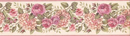 GU92102B Garden Hortensie Tapetenbordüre, 16,5 x 4,1 m