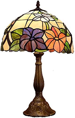CMMT Lámpara de escritorio lámpara de mesa retro creativo Lotus decorativo de vidrio de color sala de estar estudio dormitorio cabecera hotel LED lámpara de mesa