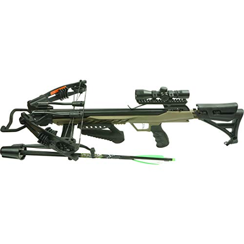 Rocky Mountain RM360 Pro Crossbow Package with Crossbolts and Scope Included - Khaki