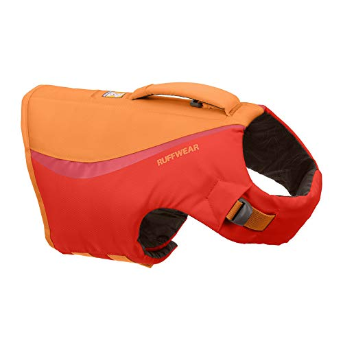 RUFFWEAR, Float Coat Dog Life Jacket, Swimming Safety Vest with Handle, Red Sumac, Small