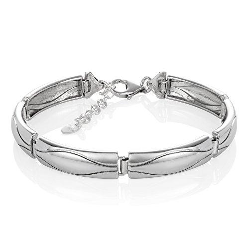 LillyMarie Damen Armband Sterlingsilber 925 Längen-verstellbar Schmucketui Geschenk zum Muttertag