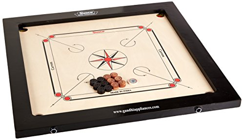 Surco Classic Kids Size Carrom Board with Coins and Striker, 4mm
