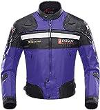 BORLENI Chaqueta de Motocicleta de Moto para Hombre, Respirable, Armadura Protección, reflexión de Alto Brillo, para Verano Primavera otoño
