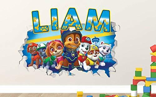 Pegatinas de pared Wall decals nombre personalizado 3d sticker decoración vinilo destrozado niños niña niño