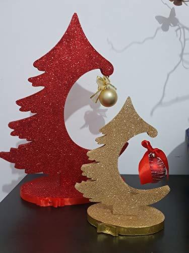 Alberelli Di Natale.Albero Di Natale Alberelli Di Natale Coppia 25 E 35 Cm Amazon It Handmade