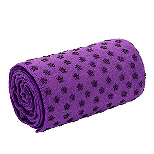 N / A Antideslizante Yoga Mat Cover Toalla Microfibra Gel de sílice Manta para Fitness Ejercicio Pilates Outdoor Camping Training 183 * 63cm