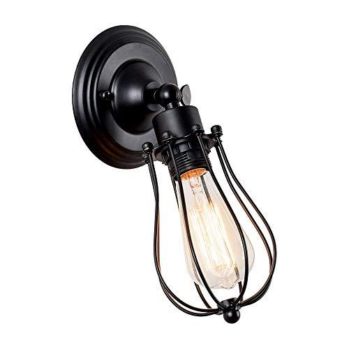 Nfudishpu Deckenleuchten Deckenleuchte Wandleuchte Vintage verstellbare Metallleuchte Rustikale Hauslampe Rustikal für Schlafzimmer Wohnzimmer Esstisch (mit modernem Schwarz lackiert)