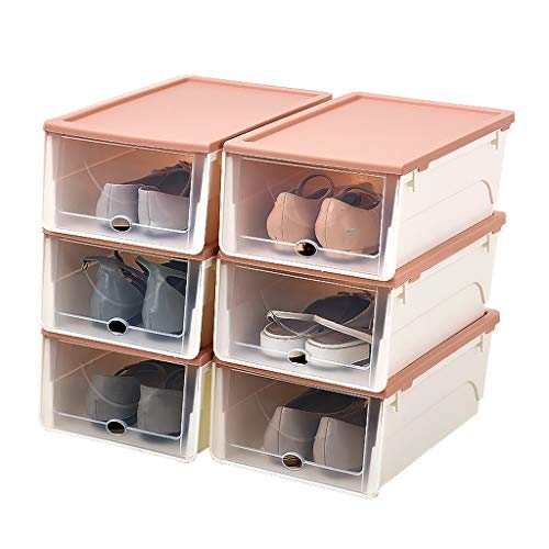 NYKK Closet Entryway Hallway Wardrobe Storage Storage Box Transparent Plastic Shoe Rack Home Storage Container Shoe Rack Storage Organizer & Hallway
