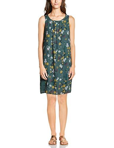 CECIL Damen 142488 Kleid, Mehrfarbig (sage green 31893), Medium (Herstellergröße:M)