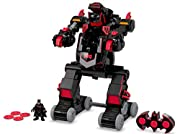 It's a robot and a tank in one—with over 100 cool sounds and phrases! Remote Control drives forward and backward & turns Rapid-fire disk action! Eyes & vents light up! Pop-up arm blaster activates sounds & lights