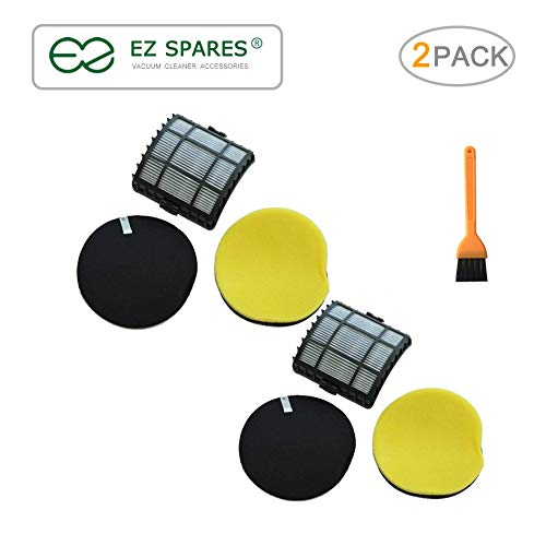 EZ SPARES 2 Pack Bisel 12118 Replacement Filter Pack for Powerglide Vacuum Cleaners Lift Off Filter Kit Compare to Vacuum Hepa Part Attachment 160-1972, 160-1973, 160-1974, 1601974, 1603437, 2763,