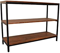 product image for Carolina Chair & Table William Long TV Stand/Bookcase, Chestnut/Black