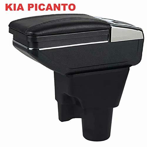 für Picanto 2008-2019 Armlehne Mittelkonsole Aufbewahrungsbox Mit Aschenbecher und Getränkehalter
