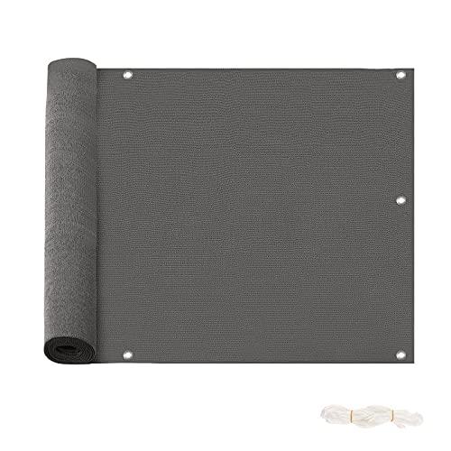 Laneetal Pantalla para Balcón HDPE 220 g m², 75x600 cm Protección Visual de Privacidad UV Resistente al Viento para Jardín Terrza