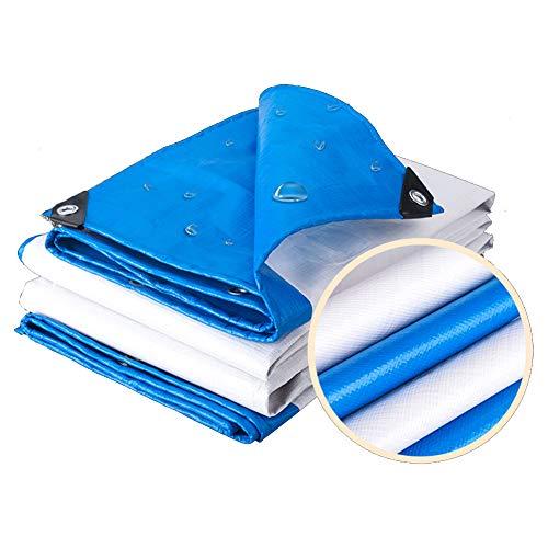 Tarpaulin-CZY Afdekzeil voor buiten, waterdicht, zonwering, winddicht, stofdicht, bescherming voor de privacy, groot formaat 6.7mx4.7m blauw