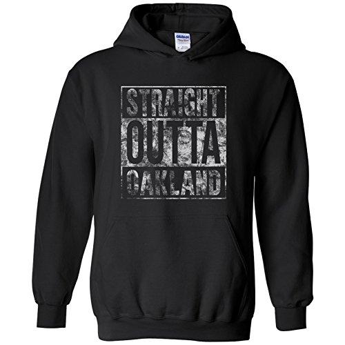 Straight Outta Oakland - Football, Baseball, Hometown Pride Hoodie - X-Large - Black