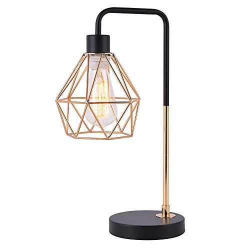 COTULIN Bedside Table Lamp, Delicate Design Desk Lamp for Living Room Bed Room,Gold