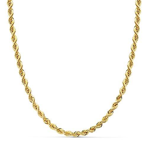 Cordón Salomónico Oro amarillo 18k Cadena 45cm 4mm