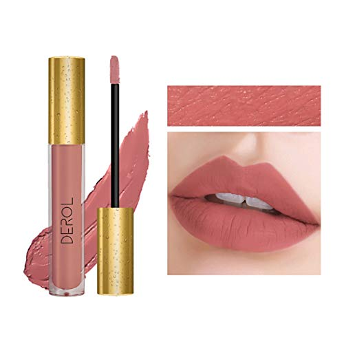 Edanta Matte Liquid Lipstick High Pigmented Cream Lipsticks Long Lasting lip Makeup Christmas Party for Women and Girls (Pink 03#)