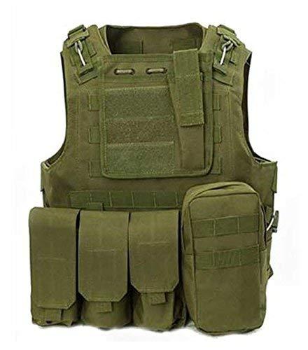 ATAIRSOFT CS Militaire Tactique Gilet Molle Combat assaut Plaque Transporteur Tactique Gilet vêtements de Plein air Chasse Gilet (OD)