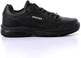 Starter Faux Leather Stitched Detail Contrast Side Logo Lace-Up Unisex Walking Shoes