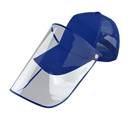 Staubkappe mit Schutzmaske, Baseballkappe, Unisex, abnehmbare Maske, Sonnenhut, Fischerhut, OUIICE