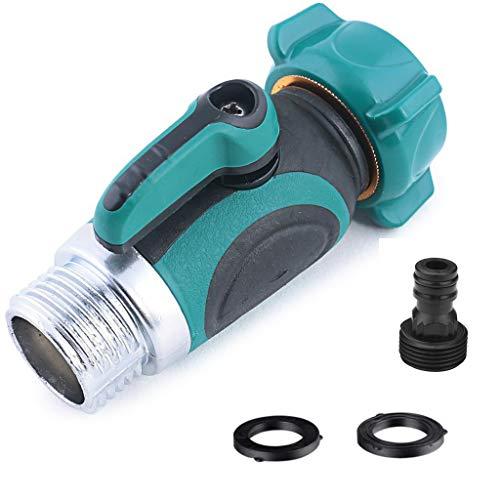 Preisvergleich Produktbild CHSEEO Verteiler Wasser Geräteanschluss Gartenschlauch Rohr Splitter Hahnanschluss Anschluss-Ventil Wasseranschluss für Waschmaschine Garten Outdoor Bewässerungsanlagen 1